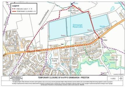 Footpath Closure Map Sept 2018