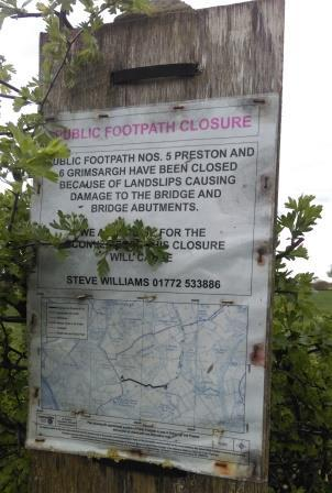 Footpath closure notice