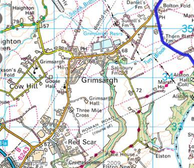 Map of Grimsargh